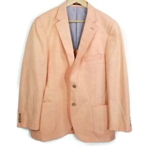 Peter Millar linen cotton blazer peach size 44R